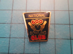Pin1115a Pin's Pins : Rare Et Belle Qualité SPORTS / CLUB DE BOWLING NATIONAL 600 - Bowling