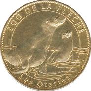 72 SARTHE LA FLÈCHE ZOO N°3 LES OTARIES MÉDAILLE ARTHUS BERTRAND 2010 PAS MONNAIE DE PARIS JETON MEDALS TOKEN COINS - Arthus Bertrand