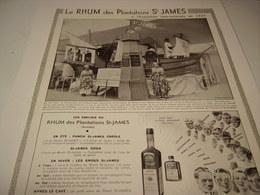 ANCIENNE AFFICHE  PUBLICITE RHUM ST JAMES 1937 - Alcohols