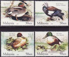 Malaysia 2006 S#1075-1078 Wild Ducks MNH Fauna Bird Duck - Malaysia (1964-...)