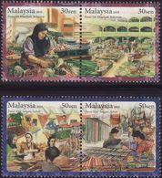 Malaysia 2010 S#1286-1287 Local Markets MNH Flora Food Fruit Vegetable Fish - Malaysia (1964-...)
