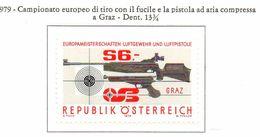PIA - AUST - 1979  : Campionato Europeo Di Tiro Con Pistola E Fucile Ad Aria Compressa -   (Yv 1428) - Tiro (armi)