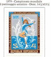 PIA - AUST - 1979  : Campionato Mondiale Di Pattinaggio Artistico E Danza Su Ghiaccio A Vienna -   (Yv 1429) - Pattinaggio Artistico
