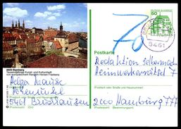 82459) BRD - P 134 - J4/54 - OO Gestempelt - 8600 Bamberg, Nergstadt, Nachporto - BRD