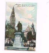"""Anvers.La Place Verte.La Place Ambiorix.Expédié En Feldpost à Würzburg. """"12 Komp.Landw.J.R. 35"""" - War 1914-18"""