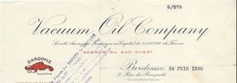 Lubrifiant/ Huiles Industrielles/ Vacuum Oil Company/ Agence Du Sud-Ouest/BORDEAUX/Gironde/1920 FACT230 - Francia