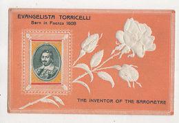 Evangelista Torricelli Inventor Of The Barometer Vintage Embossed Postcard US064 - Non Classés