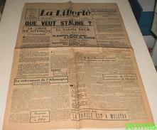La Liberté Du 5 Mai 1939 (directeur : Jacques Doriot). - Revues & Journaux