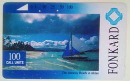 Philippines Phonecard Tamura 100 Units Boracay Beach - Philippines