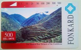 Philippines Phone Card Tamura 500 Units Rice Terraces - Philippines