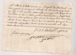 1706 MANDEMENT AUMONE / DELMARE  / HOPITAL CAUDEVAL / AUTOGRAPHE PIERRE DE LA BROUE EVEQUE MIREPOIX ??AR27 - Documents Historiques