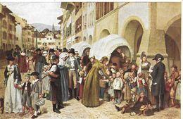 PRO JUVENTUTE KARTE 1926 → Die Stanser Kinder In Murten  (Albert Anker 1831-1910) - Pro Juventute