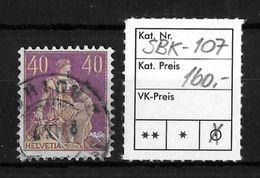 1908-1940 HELVETIA MIT SCHWERT → SBK-107 T.1  ►mit 3 Lorbeerblättern◄ - Gebraucht