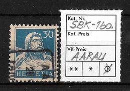 1914-1933 TELLBRUSTBILD → SBK-160, Aarau  ►Fahrpost-Stempel) - Gebraucht