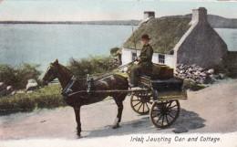 Ireland Irish Jaunting Car And Cottage - Dublin