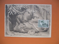 Carte-Maximum     1953 - Elan - Maximum Cards & Covers