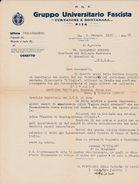 PNF - Gruppo Universitario Fascista - Curtatone E Montanara - Pisa 1937 - A. XV - Non Classés