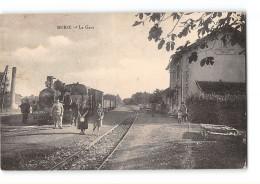 CPA 17 Burie La Gare Et Le Train Tramway Ligne De St Jean D'Angely Cognac - France