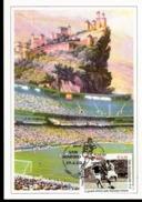 Cartolina Con Annullo Abruzzofil Raffigurante Calciatore  Con Serie Campionati Del Mondo Italia Cecoslovacchia - Calcio