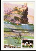 Cartolina Con Annullo Abruzzofil Raffigurante Calciatore San Marino Serie Campionati Del Mondo Italia Inghilterra 2-1 - Calcio