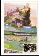 Cartolina Con Annullo Abruzzofil Raffigurante Calciatore San Marino Con Serie Campionati Del Mondo Italia Ungheria 1-0 - Calcio