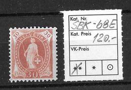 STEHENDE HELVETIA Gezähnt → SBK-68E ** - Unused Stamps