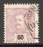 005412 Portugal 1895 King Carlos 80 Reis FU - 1892-1898 : D.Carlos I