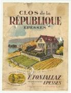 Rare // Epesses, Clos De La Répiblique, F.Fonjallaz, Epesses, Vaud // Suisse - Etiquettes