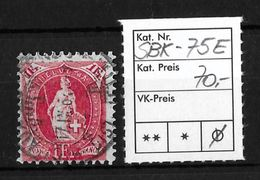 STEHENDE HELVETIA Gezähnt → SBK-75E - 1882-1906 Armoiries, Helvetia Debout & UPU