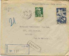 Lettre Recommandée Chargé Provisoire - 1921-1960: Moderne