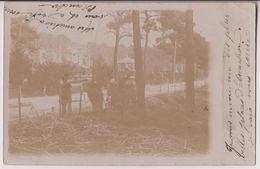 CARTE PHOTO : PLACE DES PALMIERS - LE KIOSQUE - ECRITE EN 1904 - 2 SCANS - - Arcachon