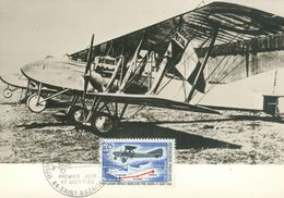 Carte Maximum 1ère Liaison Postale Régulière Saint-Nazaire Paris 1918 - 1939-1945: 2ème Guerre