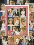 20.Todestag Diana 2017 Burkina Faso 1488/6 8x ZD+KB ** 56€ Shettlet Princess Of Wales Ss Bloc Se-tenant Bf Lady Di - Burkina Faso (1984-...)