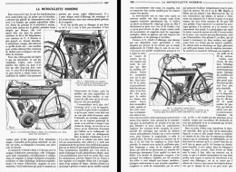 LA MOTOCYCLETTE MODERNE ( MAGNAT Et DEBON -  MOTOSACOCHE )  1908 - Transporto