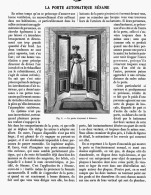 LA PORTE AUTOMATIQUE SESAME  1908 - Non Classés