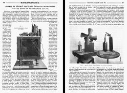 APPAREIL DE SECURITE CONTRE LES ETINCELLES ACCIDENTELLES  Dans Les Effets De Telemecanique Sans Fil   1908 - Sciences & Technique