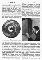 UN DISPOSITIF De TELEVISION    1908 - Sciences & Technique