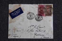 Enveloppe Timbrée , Poste Aérienne De COTONOU ( DAHOMAY) à NARBONNE (11) - Dahomey (1899-1944)