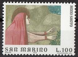 "949 San Marino 1975 ""Noli Me Tangere. (Maria Maddalena) (Dettaglio)"" Affresco Dipinto Giotto Nuovo MNH Paintings - Religious"