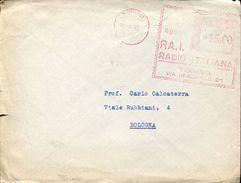 24674 Italia, Red Meter/freistempel/ema/torino 1949 Rai Radio Italiana Torino Via Arsenale 21.  Circuled Card - Affrancature Meccaniche Rosse (EMA)