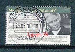 GERMANY Mi.Nr. 2766 100. Geburtstag Von Marion Gräfin Dönhoff -  Used - BRD