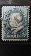 "RARE 1 CENT US USA FRANKLIN 1890 DARK BLUE SUPERB STAMP WMK ""D"" TIMBRE - Unused Stamps"