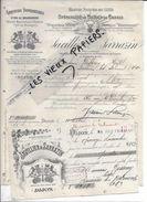 21 - Côte-d'or - DIJON - Facture JAVILLIER & SARRAZIN - Fabrique De Grandes Liqueurs - Crème De Cassis - 1901 - REF 74A - 1900 – 1949