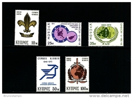 CYPRUS - 1973  ANNIVERSARIES   SET  MINT NH - Chypre (République)