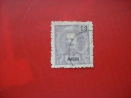 Portugal- Macao: Timbre N° 136 (YT) Oblitéré,  Charnière - Macao