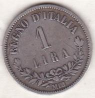 1 Lira Valore  1863 M  Milano , Vittorio Emanuele II , En Argent - 1861-1946 : Reino