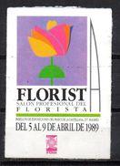 Viñeta  Etiqueta Salon Profesional Del Florista. - Spanien