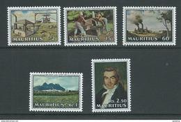 Mauritius 1969 Sugar Industry Set Of 5 MNH - Mauritius (1968-...)