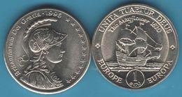 EUROPE EUROPA 1 ECU 1995 The Mayflower 1620 Britanniarum Dei Gratia UNITA TUAETUR DEUS UNC - United Kingdom