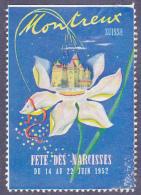 Vignette MONTREUX, Fête Des Narcisses Du 14 Au 22 Juin 1952 - 4 X 5,5 Cms. - Schweiz